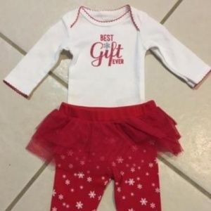 CARTERS Best Christmas Gift Ever BABY OUTFIT 3M